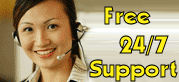 Free 24/7 Support